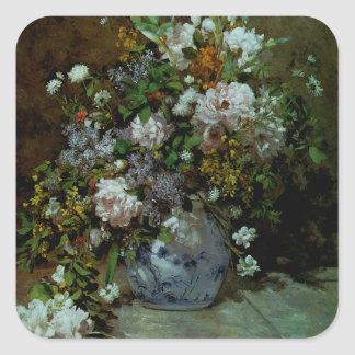 Spring Bouquet Square Sticker