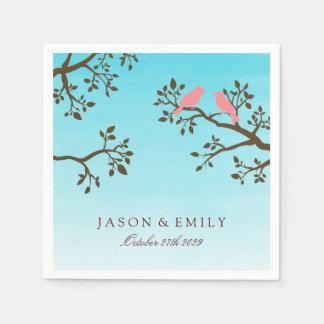 Spring Branches Wedding Paper Napkin