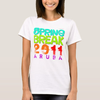 Spring Break 2011 Aruba White T-Shirt