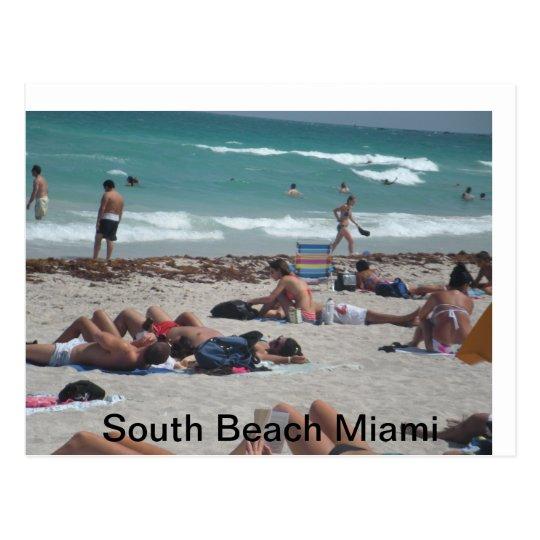 Spring break beach outing. postcard