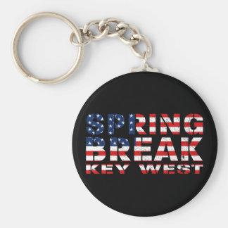 Spring Break Key West USA Keychain
