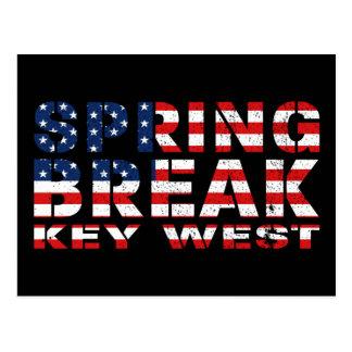 Spring Break Key West USA Postcard
