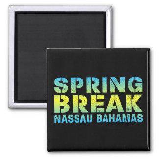 Spring Break Nassau Bahamas Square Magnet