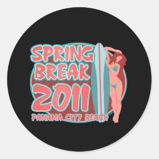 Spring Break Panama City Beach Round Sticker