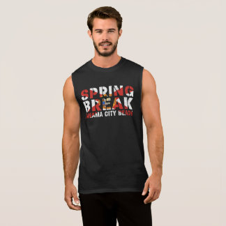 Spring Break Panama City Beach Sleeveless Shirt