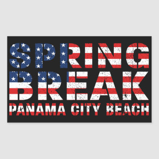 Spring Break Panama City Beach US Flag Sticker
