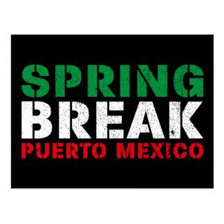 Spring Break Puerto Mexico Postcard