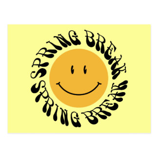 Spring Break Smiley Postcard
