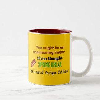 Spring Break Two-Tone Coffee Mug