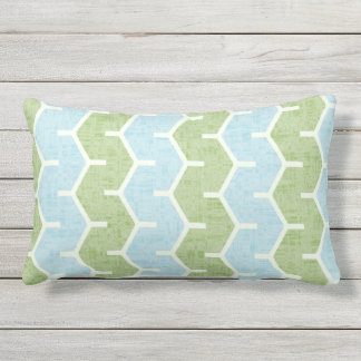 Spring Breeze Mix & Match Olive Blue Patio Outdoor Pillow