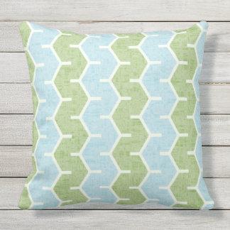 Spring Breeze Mix & Match Olive Blue Patio Throw Pillow