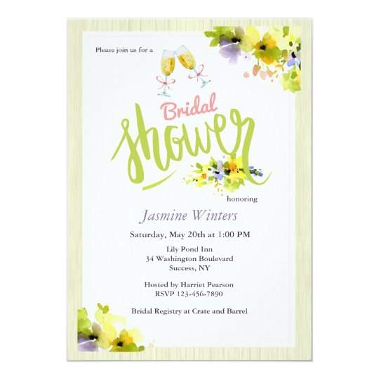 Spring Bridal Shower Invitation