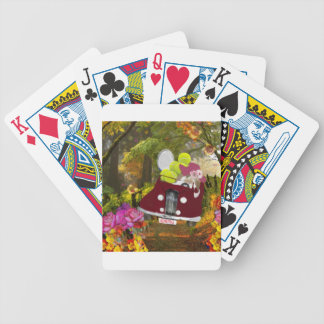 Spring brings joy to tennis sport bicycle playing cards