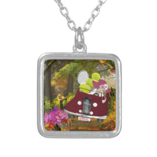 Spring brings joy to tennis sport silver plated necklace