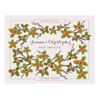 Spring Buds Save the Date Postcard