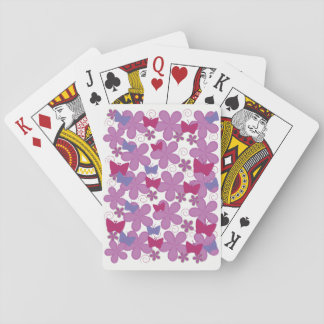 Spring Butterflies | Pink Playing Cards