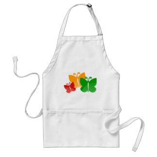 Spring butterfly apron