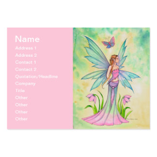 Spring Butterfly Fairy Fantasy Art Large Business Card