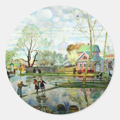 Spring by Boris Kustodiev Sticker