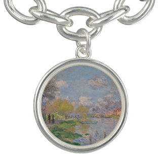Spring by the Seine by Claude Monet Bracelet