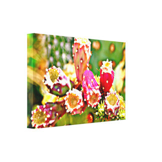 Spring Cactus Bulbs Canvas Art Wall Decor