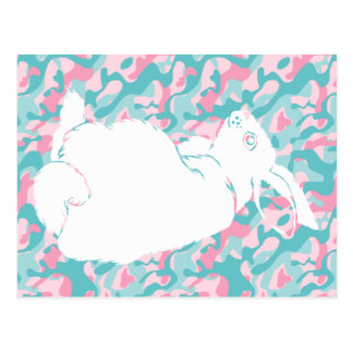 Spring  Camouflage Easter Bunny Postcard