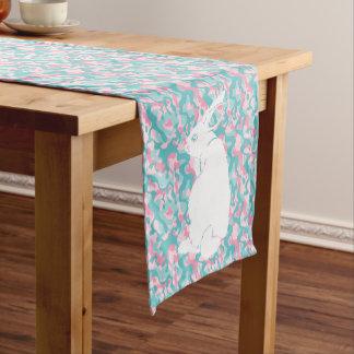 Spring  Camouflage Easter Bunny Short Table Runner