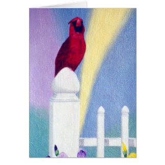 Spring Cardinal Blank Card
