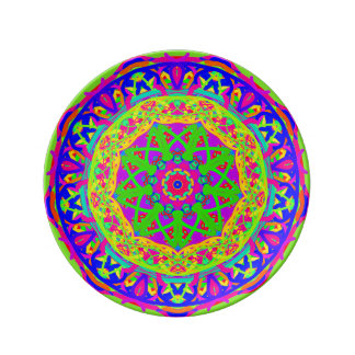 Spring Celebration Mandala Porcelain Plate