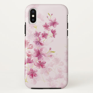 Spring Cherry Blossom Floral Watercolor Style Case-Mate iPhone Case