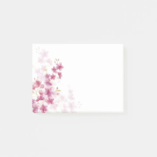 Spring Cherry Blossom Floral Watercolor Style Post-it Notes