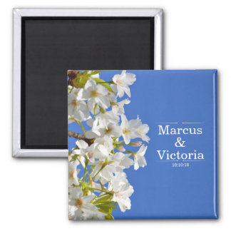 Spring Cherry Blossom Wedding Magnet