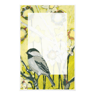 Spring Chickadee Stationery