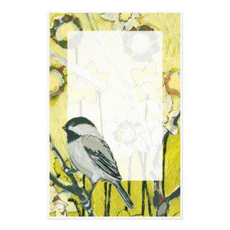 Spring Chickadee Stationery