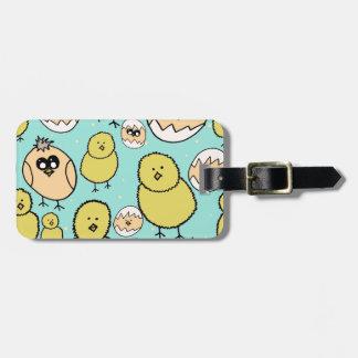 spring chicken bag tag