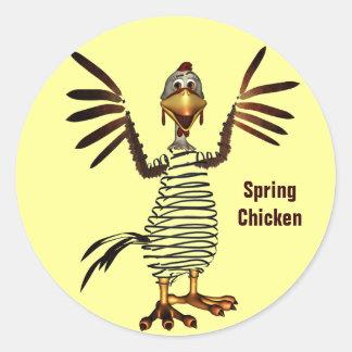Spring Chicken Classic Round Sticker