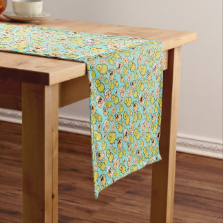 spring chicken short table runner