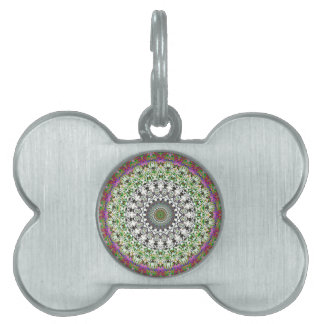 Spring Circle And Grwoth Kaleidoscope Pet Tags