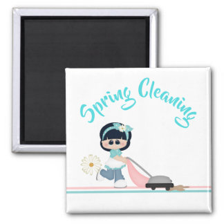 Spring Cleaning Day Vacuum Maid Magnet