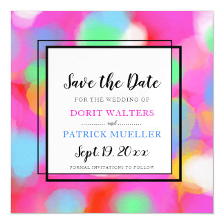 Spring Color Save the Date invitations