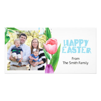 Spring colorful  Easter single Photocard Card