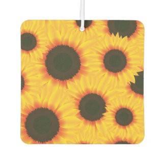 Spring colorful pattern sunfl car air freshener