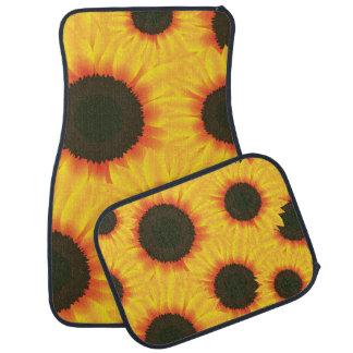 Spring colorful pattern sunfl car floor carpet