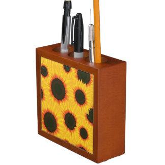 Spring colorful pattern sunfl desk organizer