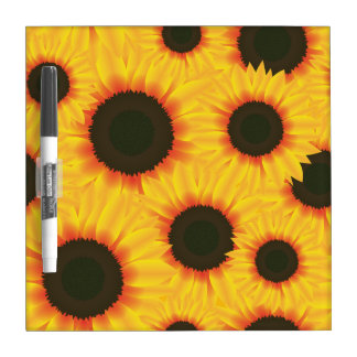 Spring colorful pattern sunfl dry erase board