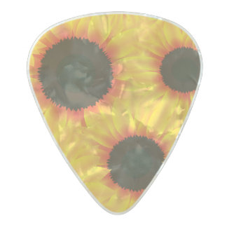 Spring colorful pattern sunfl pearl celluloid guitar pick