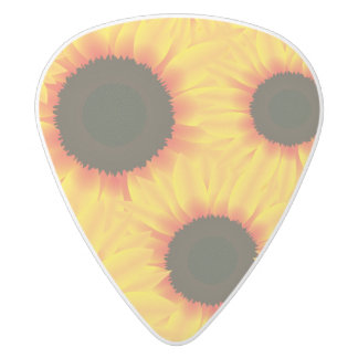 Spring colorful pattern sunfl white delrin guitar pick