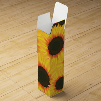 Spring colorful pattern sunfl wine box