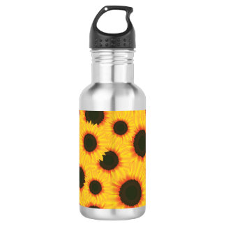 Spring colorful pattern sunflower 532 ml water bottle