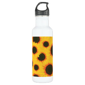 Spring colorful pattern sunflower 710 ml water bottle